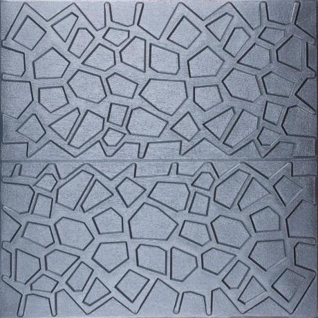 Самоклеющаяся 3D панель серая паутинка 700x700x8мм