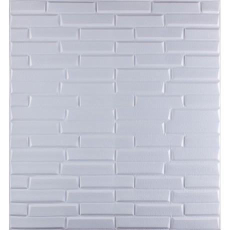 Самоклеющаяся декоративная 3D панель белая кладка