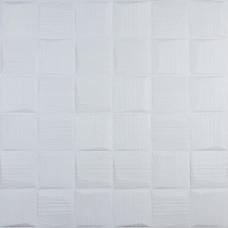 Самоклеющаяся 3D панель белые рваные кубики 700x700x8мм