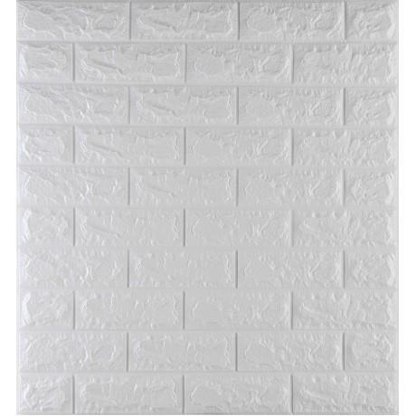 Самоклеющаяся декоративная 3D панель под белый кирпич 700x770x7 мм