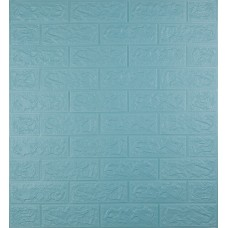 Самоклеющаяся декоративная 3D панель под бирюзовый кирпич 700x770x5мм