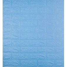 Самоклеющаяся декоративная 3D панель под голубой кирпич 700x770x5мм
