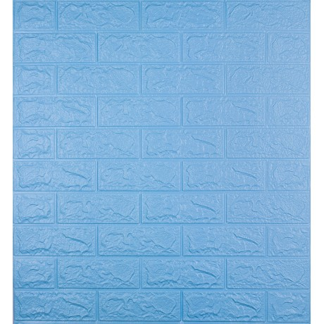 Самоклеющаяся декоративная 3D панель под голубой кирпич 5 мм