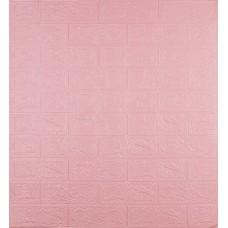 Самоклеюча декоративна 3D панель під рожеву цеглу 700x770x3мм