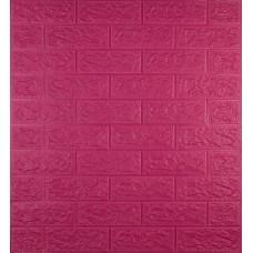 Самоклеюча декоративна 3D панель під темно-рожеву цеглу 700x770x5 мм