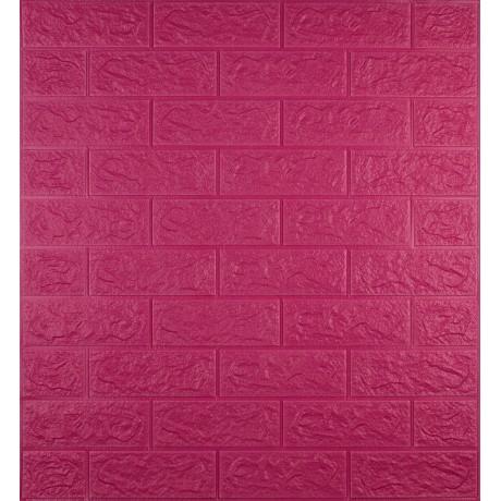 Самоклеющаяся декоративная 3D панель под темно-розовый кирпич 700x770x5 мм в Киеве