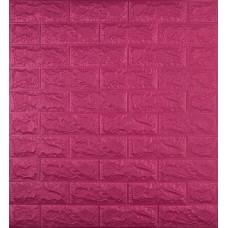 Самоклеюча декоративна 3D панель під темно-рожеву цеглу 700x770x7 мм