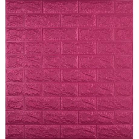 Самоклеющаяся декоративная 3D панель под темно-розовый кирпич 700x770x7 мм в Киеве