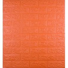 Самоклеющаяся декоративная 3D панель под оранжевый кирпич 700x770x5 мм