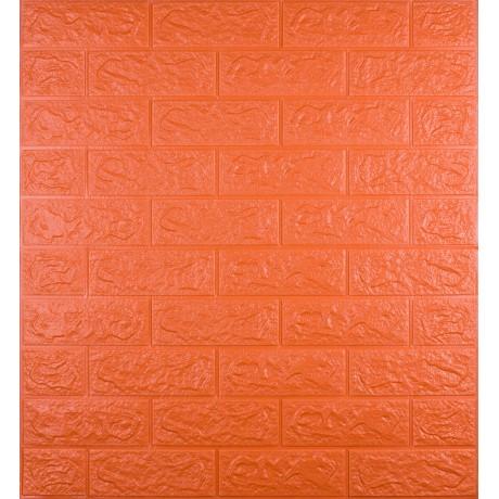 Самоклеющаяся декоративная 3D панель под оранжевый  кирпич 700x770x5 мм в Киеве