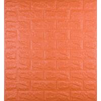 Самоклеющаяся декоративная 3D панель под оранжевый кирпич 700x770x7 мм