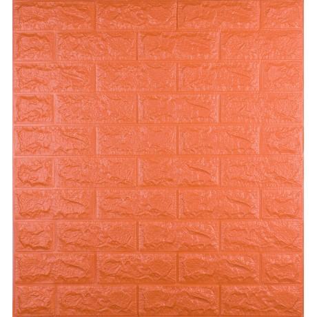 Самоклеющаяся декоративная 3D панель под оранжевый  кирпич 700x770x7 мм в Киеве