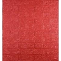 Самоклеюча декоративна 3D панель під червону цеглу 700x770x3 мм