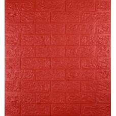 Самоклеюча декоративна 3D панель під червону цеглу 700x770x5мм