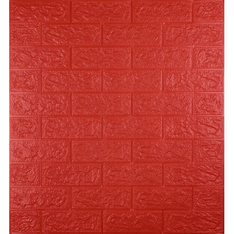 Самоклеющаяся декоративная 3D панель под красный кирпич 5 мм