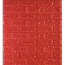 Самоклеющаяся декоративная 3D панель под красный кирпич 700x770x7мм