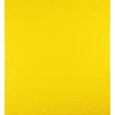 Самоклеющаяся декоративная 3D панель под желтый кирпич 5 мм