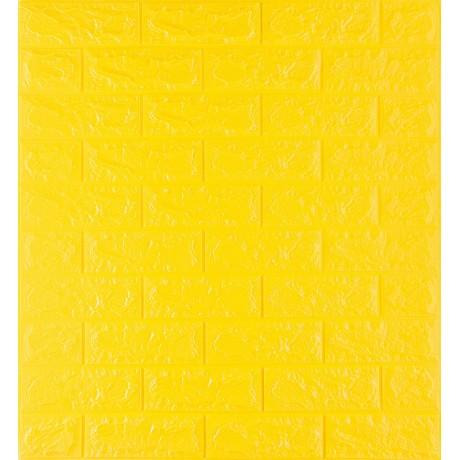 Самоклеющаяся декоративная 3D панель под желтый кирпич