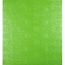 Самоклеюча декоративна 3D панель під зелену цеглу 700x770x5мм