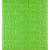 Самоклейка декоративна 3D панель під зелену цеглу 700x770x7мм