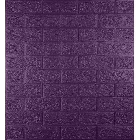 Самоклеющаяся декоративная 3D панель под фиолетовый кирпич 5 мм