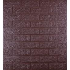 Самоклеюча декоративна 3D панель під цеглу кава 700x770x5мм