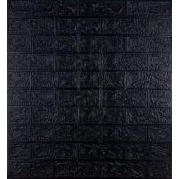 Самоклеющаяся декоративная 3D панель под черный кирпич 700x770x3мм