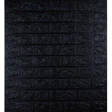 Самоклеюча декоративна 3D панель під чорну цеглу 700x770x5мм