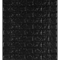 Самоклеюча декоративна 3D панель під чорну цеглу 700x770x7мм
