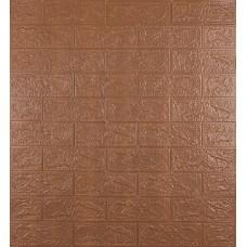 Самоклеюча декоративна 3D панель під коричневу цеглу 700x770x3 мм