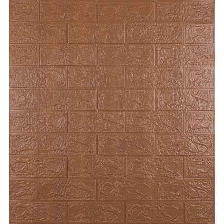 Самоклеющаяся декоративная 3D панель под коричневый кирпич 3 мм