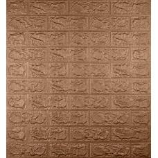 Самоклеюча декоративна 3D панель під коричневу цеглу 700x770x5мм