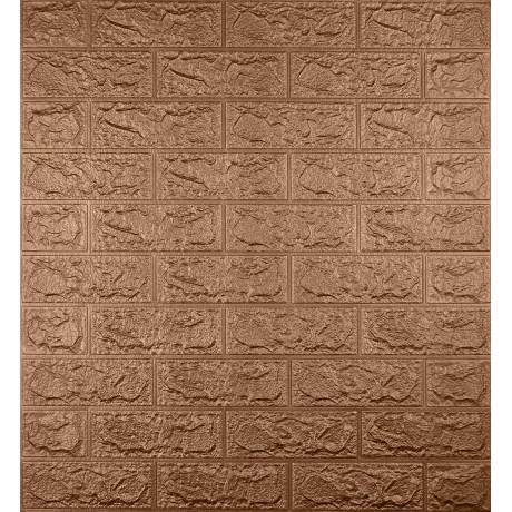 Самоклеющаяся декоративная 3D панель под коричневый кирпич 5 мм