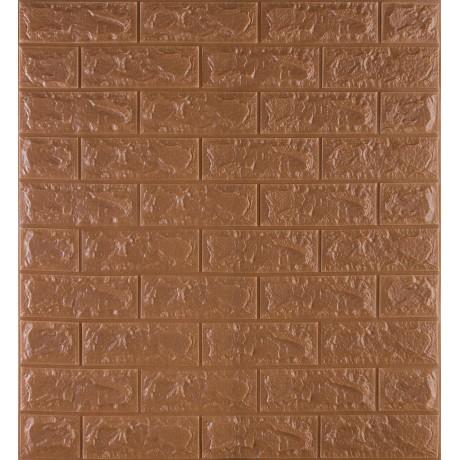Самоклеющаяся декоративная 3D панель под коричневый кирпич