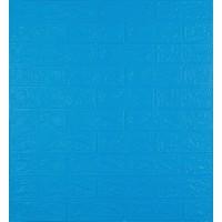 Самоклеющаяся декоративная 3D панель под синий кирпич 700x770x3 мм