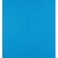 Самоклеюча декоративна 3D панель під синю цеглу 700x770x3 мм