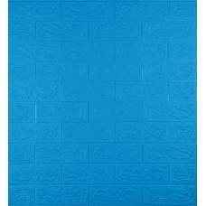 Самоклеюча декоративна 3D панель під синю цеглу 700x770x5мм