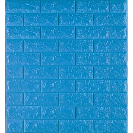 Самоклеющаяся декоративная 3D панель под синий кирпич