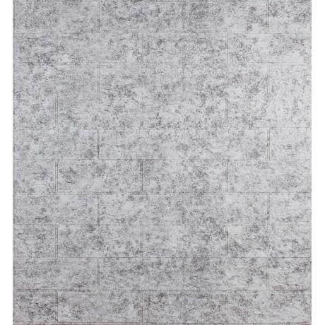Самоклеющаяся декоративная 3D панель под кирпич светло-серый мрамор