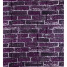 Самоклеющаяся декоративная 3D панель под фиолетовый екатеринославский кирпич 700x770x5мм