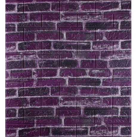 Самоклеющаяся декоративная 3D панель под фиолетовый екатеринославский кирпич