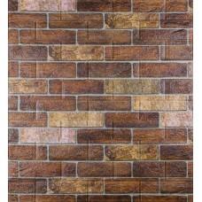 Самоклеюча декоративна 3D панель під коричневу катеринославську цеглу 700x770x5мм
